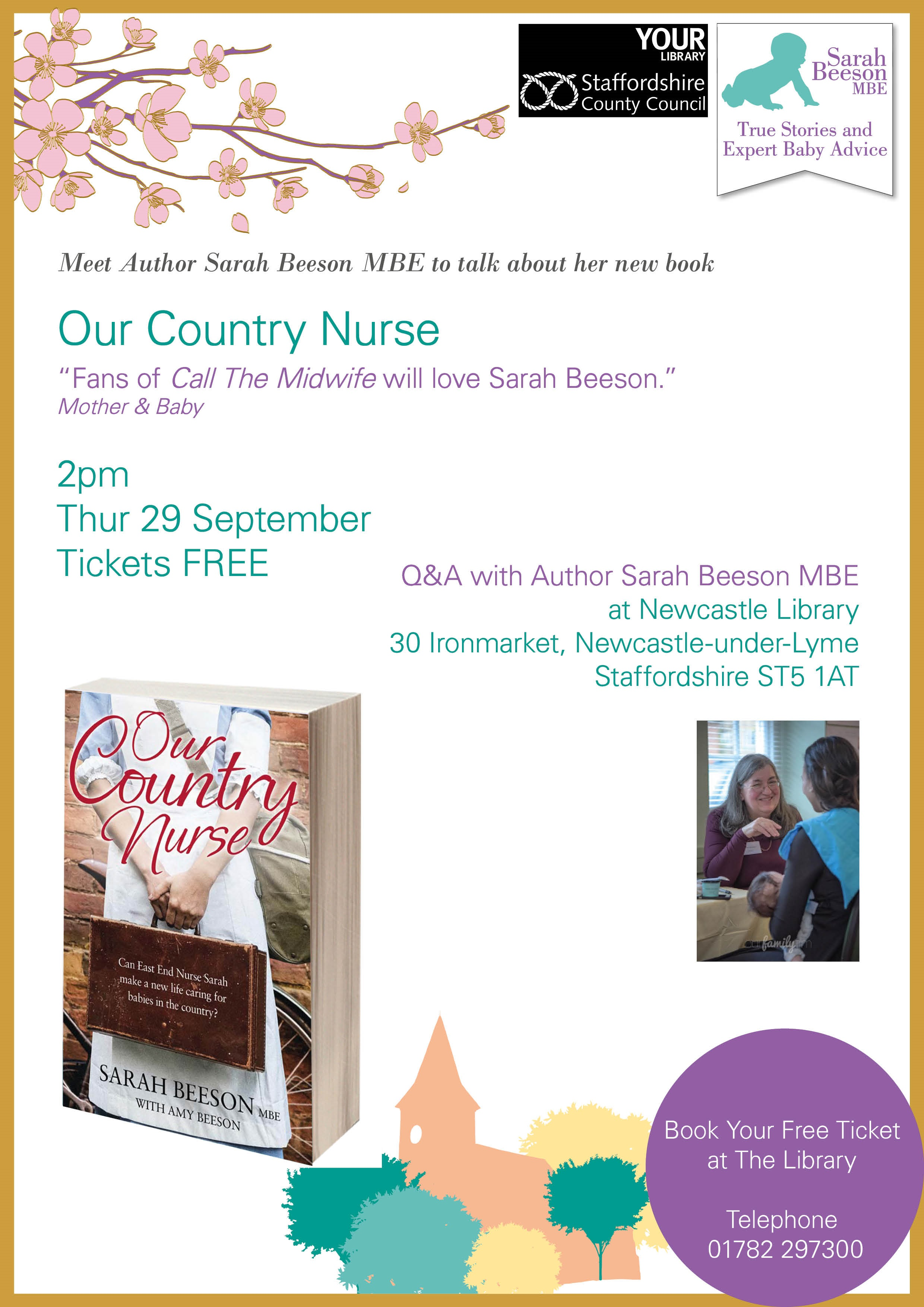 sarahbeeson_ourcountrynursebooklaunch_newcastlelibrary_poster_19july2016